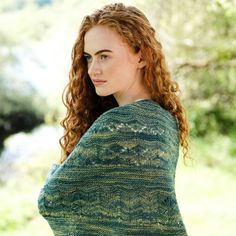 A shawl knit kit suitable for experienced knitters. The Erin shawl uses Irish sport-weight yarn making it ideal for all seasons. Sport Weight Yarn, Knitting Kits, Fishtail, Turtle Neck, Cowls, Irish, Scarves, Seasons, Collection