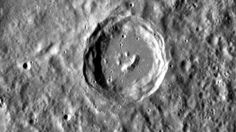 Mercury orbiter shot of a smiley face crater