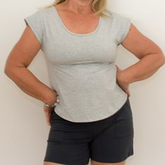 Shop Bettina Short Sleeve T-Shirt Marle Grey XS Cotton Top at BJ's PJ's. Flattering organic cotton pyjamas and loungewear with wire-free breast support. We all deserve to feel amazing every single day and night! Inspiring women to feel more confident in their PJ's, we offer the finest quality organic cotton and trims, classic designs and eco-ethically sustainably made in Australia.