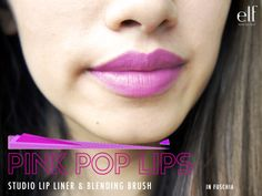 elf Studio Lip liner and Blending Brush in Fuchsia