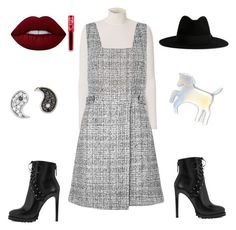 """""""Random"""" by glittermck on Polyvore featuring A.L.C., New Look, Alaïa, WithChic, Yves Saint Laurent, Lime Crime and Sydney Evan"""