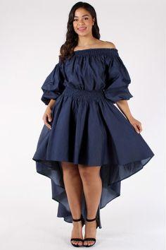 Angelic Ruffle Plus Size Denim Dress – slayboo