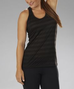 Take a look at this Black Stripe Trinity Tank - Women by Marika on #zulily today!