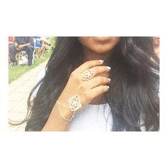 Gold Hand Chain Fashion Jewellery Accessory Dope