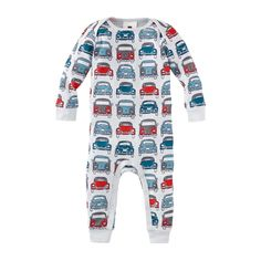 Beep Beep Baby Pajamas | The vans and slug bugs on these pajamas were inspired by Volkswagen, the largest automobile maker in Germany and the second largest in the world.