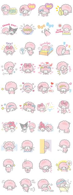 My Sweet Piano Line Sticker - Rumors City Kawaii Stickers, Cute Stickers, Sanrio, Cartoon Cupcakes, Hello Kitty Themes, Cute Cartoon Drawings, Cute Sheep, Retro Poster, Cartoon Painting