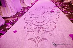 Put your monogram on your wedding aisle runner