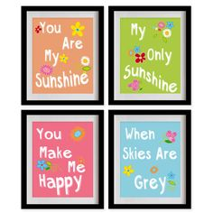 ON SALE You Are My Sunshine Nursery Art Print  by MadeForYouPrints