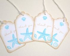 Seashell Gift Tags On Etsy A Global Handmade And Vintage Marketplace Destination Wedding Favor Tags Destination Wedding Favors Wedding Favor Tags