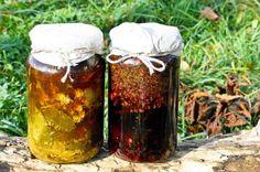 wino przeciw zmęczeniu i zdenerwowaniu Herbal Remedies, Pillar Candles, Preserves, Smoothies, Herbalism, Food And Drink, Herbs, Homemade, Tableware