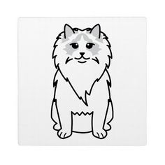 Ragdoll Cat Cartoon Display Plaque