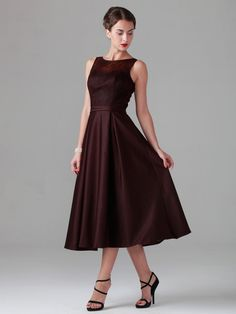 Lace Dress with Satin Skirt; Color: Burgundy; Sizes Available: 2-26W, Custom Size; Fabric: Lace, Satin