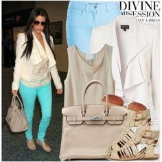 i need these pants! Celebrity Style: Kim Kardashian, created by chocolatepumma on Polyvore