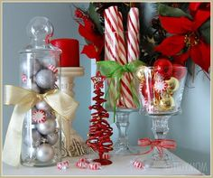 Save money this year with these DIY Dollar Store Christmas decorations! These Dollar Store Christmas Decor ideas are incredibly cute & easy! Winter Christmas, All Things Christmas, Christmas Holidays, Christmas Decorations, Holiday Decorating, Simple Christmas, Decorating Ideas, Christmas Tabletop, Xmas