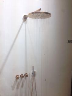 Vola shower in copper @ Interieur 2014 Kortrijk