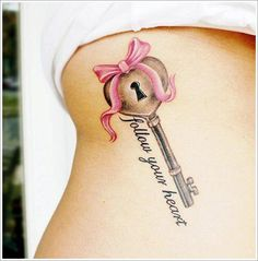 lock tattoo follow your heart
