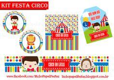 Casinha de Criança: Kit Festa Circo Para Imprimir Grátis