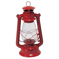 Kerosene lantern with an adjustable wick. Made in the USA.  Product: LanternConstruction Material: Metal and gla...