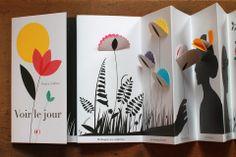 This book looks amazing. Emma Giuliani - Voir le jour dans un vaste univers Pop Up Art, Paper Book, Paper Art, Paper Crafts, Accordian Book, Art Origami, Album Jeunesse, Book Projects, Handmade Books