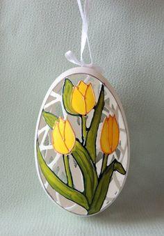 Hand carved goose egg