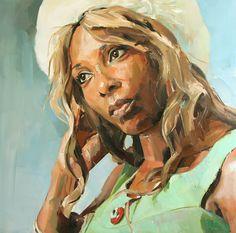 Lovely oil portrait