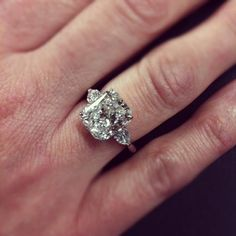 Radiant Cut Diamond Ring via Craig's Fine Jewelry.