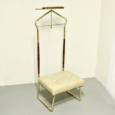 Vintage chair - valet chair - butler chair - mens dressing chair - pearl wick. $27.50, via Etsy.