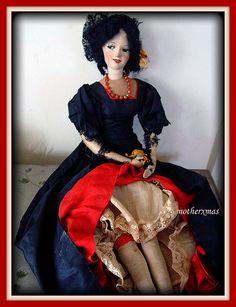 suede face boudoir doll