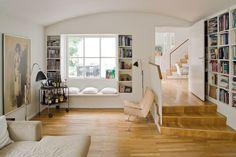 indbygget bænk vindue - trapper