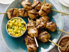 (Sub 1 peeled seedless orange for the juice, tamari for soy, and xylitol for sugar; omit oil) Awesome flavors here! Serve the chicken on its own for dinner (serves 8) or with a hefty scoop of the luscious mango salsa for lunch.