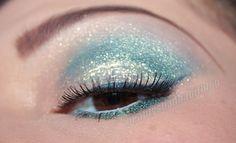 MAC 'Steel Blue' glittery eye makeup. www.beautysbadhab...