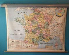 Carte scolaire de la France daté 1961