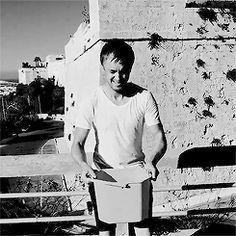 Tom Felton - ALS ice bucket challenge nominating Rupert Grint gif