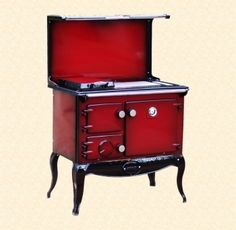 Reconditioned Stanley 8 on Legs, Claret Shaded Enamel with Plate Rack and Splash Back Waterford Stanley, Range Cooker, Plate Racks, Boiler, Plates, Cookers, Outdoor Decor, Enamel, House