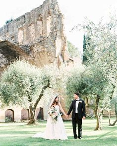 This Romantic Italian Wedding Features a Historic Venue—and One Amazing View   Martha Stewart Weddings - This couple, together with 48 guests, ventured off to Orvieto, Italy, to tie the knot. They exchanged vows at La Badia Hotel, a 12th century monastery that had been converted into a hotel complete with the original church prime for an small ceremony.