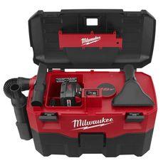 Milwaukee Cordless 18 Volt Wet/Dry Vacuum New Milwaukee Power Tools, Electric Power Tools, Wet Dry Vacuum Cleaner, Tool Cart, Garage Tools, Tools Tools, Work Tools, Garage Workshop, Hand Tools