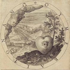 George Wither (1588-1667), A Collection of Emblemes, The Mind should have a fixed Eye | On Objects, that are plac'd on High.