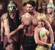 Lucy Lawless (Xena), Kevin Smith (Ares), and Renee' O'Connor (Gabrielle) Lucy Lawless, Paddy Kelly, Princess Pictures, Xena Warrior Princess, Fantasy Movies, I Movie, Actors & Actresses, Tv Shows, Wonder Woman