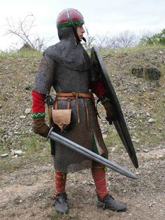 Medieval Knight, Medieval Armor, Medieval Fantasy, Viking Reenactment, Medieval Costume, Norman Knight, Armor Clothing, Medieval Clothing, Gn