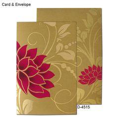 Designer Indian Wedding Cards - D-4515