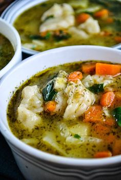 Easy vegetable and dumpling soup VeganSandra - tasty, cheap and easy vegan recipes by Sandra Vungi