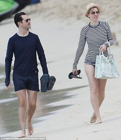 Jimmy Carr and Karoline Copping hit a Barbados beach together