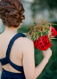 curled chignon Photography: Esther Sun - esthersunphoto.com/ Photography: Esther Sun Photography - esthersunphoto.com  Read More: http://www.stylemepretty.com/2014/04/23/los-angeles-garden-wedding-at-marvimon/