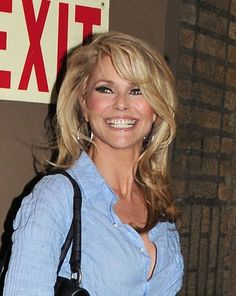 Christie Brinkleys blonde bombshell hair....Oh to look this good at almost 59 years old!