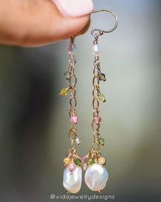 Tourmaline Jewelry, New Week, Closer, Jewlery, Jewelry Making, Pearl Earrings, Outdoors, Feelings, Instagram