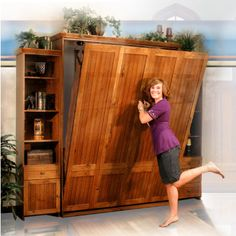Murphy Bed opening but it's not built into the wall.  great for freeing up space.