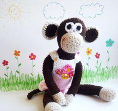 Crochet Monkey Matilda  Toy Amigurumi by MonikaDesign on Etsy
