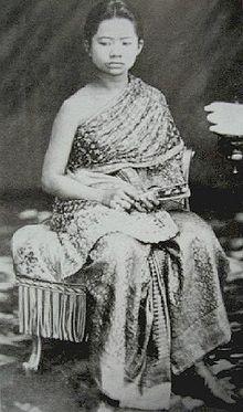 The Princess Sukhumala Marasri of Thailand. (1861-1927). She was a daughter of King Rama IV (Mongkut) and his concubine, Samli Bunnag. She was Princess-consort of Thailand (1878-1910) as the wife of King Rama V (Chulalongkorn). Her children were The Prince Paribatra Sukhumbhand The Prince of Nakorn Sawan, and The Princess Suddha Dibyaratana The Princess of Ratanakosin.