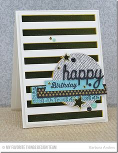 Blueprints 23 Die-namics, Happy Trio Die-namics, Stitched Circle STAX Die-namics, Stripes Cover-Up Die-namics, Sun, Moon, & Stars Die-namics, Damask Background, Linen Background, Totally Happy - Barbara Anders  #mftstamps