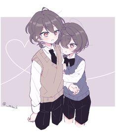 Anime Oc, Otaku Anime, Kawaii Anime, Anime Siblings, Anime Child, Cute Anime Boy, Anime Guys, Sakuma Rei, Ritsu Sakuma